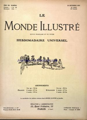 MONDE ILLUSTRE (LE) no:3288 25/12/1920