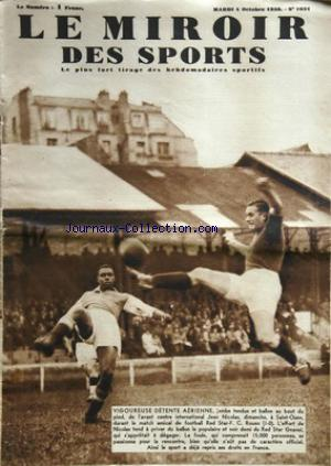 MIROIR DES SPORTS (LE) no:1031 04/10/1938