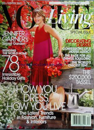 VOGUE USA LIVING no:74 01/09/2007