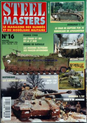 STEEL MASTERS no:16 31/08/1996