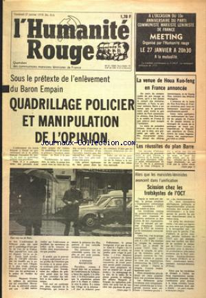 HUMANITE ROUGE (L') no:814 27/01/1978