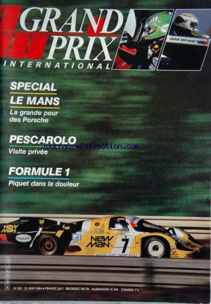 GRAND PRIX INTERNATIONAL no:83 21/06/1984