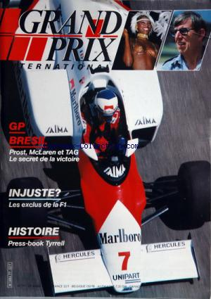 GRAND PRIX INTERNATIONAL no:77 29/03/1984