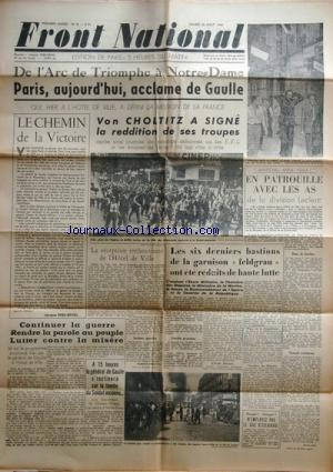 FRONT NATIONAL no:5 26/08/1944