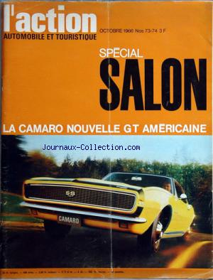 ACTION AUTOMOBILE ET TOURISTLQUE (L') no:73 - 74 01/10/1966