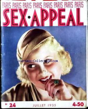 PARIS SEX APPEAL no:24 01/07/1935