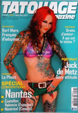 TATOUAGE MAGAZINE no:59 01/11/2007