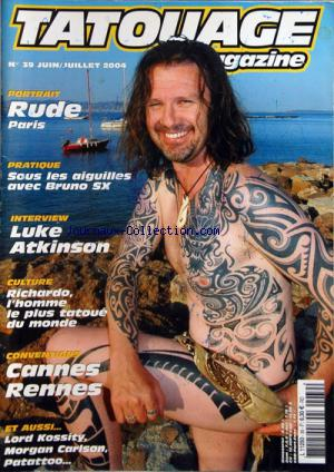 TATOUAGE MAGAZINE no:39 01/06/2004