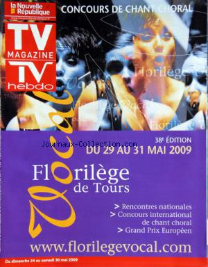 TV MAGAZINE LA NOUVELLE REPUBLIQUE no:1164 23/05/2009