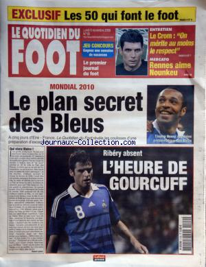 QUOTIDIEN DU FOOT (LE) no:19 09/11/2009