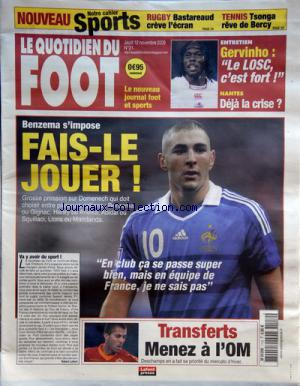 QUOTIDIEN DU FOOT (LE) no:21 12/11/2009