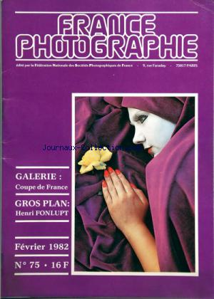 FRANCE PHOTOGRAPHIE no:75 01/02/1982