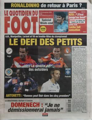 QUOTIDIEN DU FOOT (LE) no:32 27/11/2009