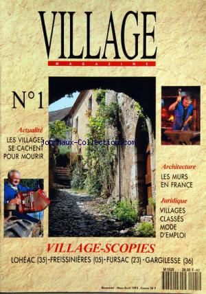 VILLAGE MAGAZINE no:1 01/03/1993