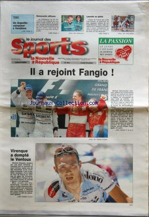 JOURNAL DES SPORTS LA NOUVELLE REPUBLIQUE (LE) no:254 22/07/2002