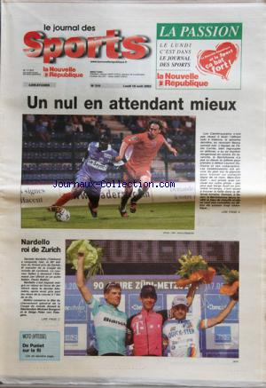 JOURNAL DES SPORTS LA NOUVELLE REPUBLIQUE (LE) no:310 18/08/2003
