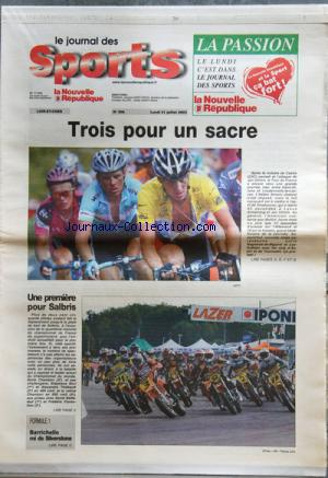 JOURNAL DES SPORTS LA NOUVELLE REPUBLIQUE (LE) no:306 21/07/2003
