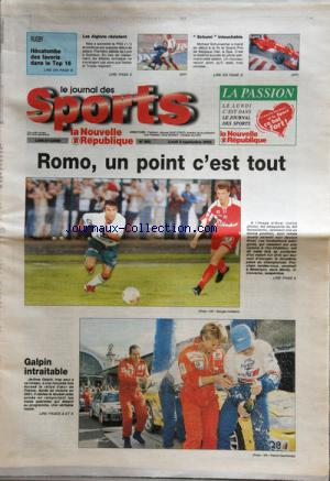 JOURNAL DES SPORTS LA NOUVELLE REPUBLIQUE (LE) no:260 02/09/2002