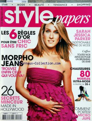 STYLE PAPERS no:10 01/03/2009