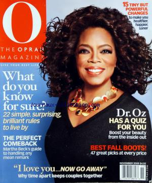 O THE OPRAH MAGAZINE no: 01/11/2008