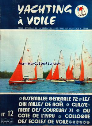 YACHTING A VOILE no:12 01/11/1972