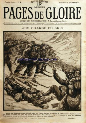 PAGES DE GLOIRE no:5 03/01/1915