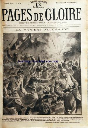 PAGES DE GLOIRE no:7 17/01/1915