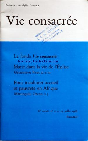 VIE CONSACREE no:4 15/07/1988