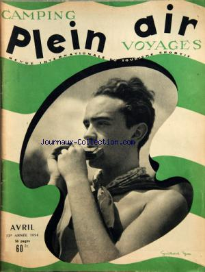 PLEIN AIR CAMPING VOYAGES no: 01/04/1954