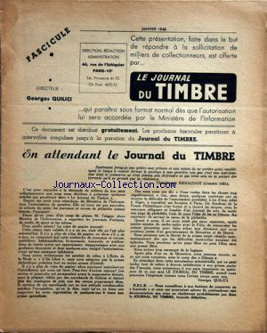 JOURNAL DU TIMBRE (LE) no: 01/01/1946