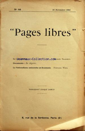 PAGES LIBRES no:46 16/11/1901
