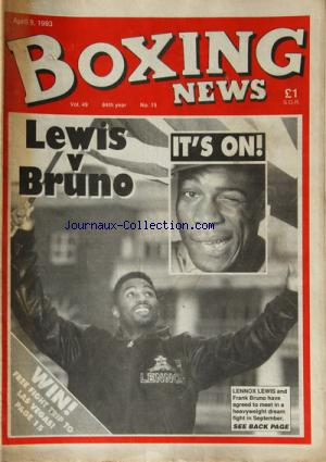BOXING NEWS no:49 - 15 09/04/1993