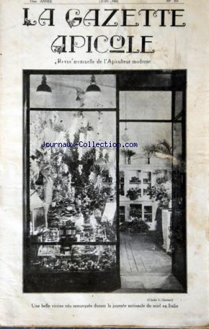 GAZETTE APICOLE (LA) no:331 01/06/1932