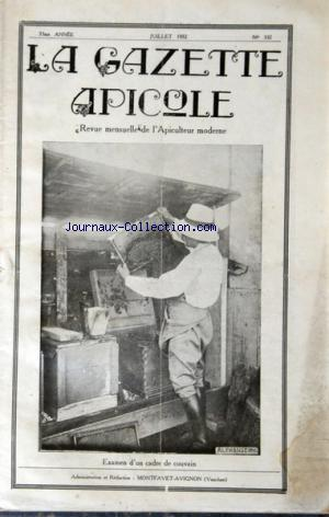 GAZETTE APICOLE (LA) no:332 01/07/1932