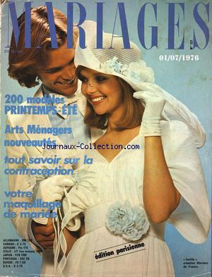 MARIAGES no:121 01/07/1976