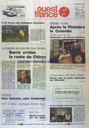 OUEST FRANCE FINISTERE no:13163 09/02/1988