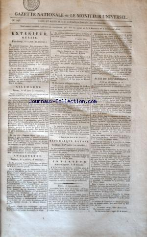 GAZETTE NATIONALE OU LE MONITEUR UNIVERSEL no:293 12/07/1802