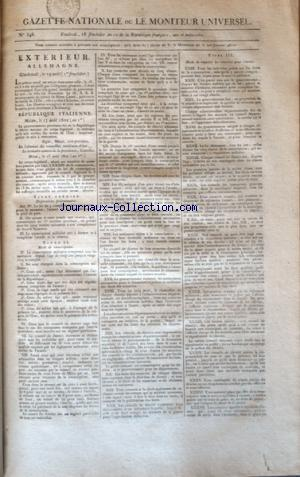 GAZETTE NATIONALE OU LE MONITEUR UNIVERSEL no:346 03/09/1802