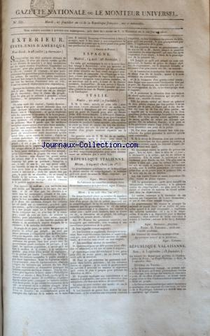 GAZETTE NATIONALE OU LE MONITEUR UNIVERSEL no:357 14/09/1802