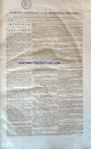 GAZETTE NATIONALE OU LE MONITEUR UNIVERSEL no:293 12/07/1803