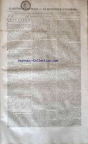 GAZETTE NATIONALE OU LE MONITEUR UNIVERSEL no:185 26/03/1804