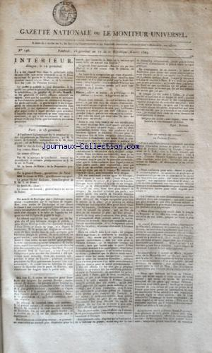GAZETTE NATIONALE OU LE MONITEUR UNIVERSEL no:196 06/04/1804