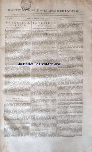 GAZETTE NATIONALE OU LE MONITEUR UNIVERSEL no:202 12/04/1804