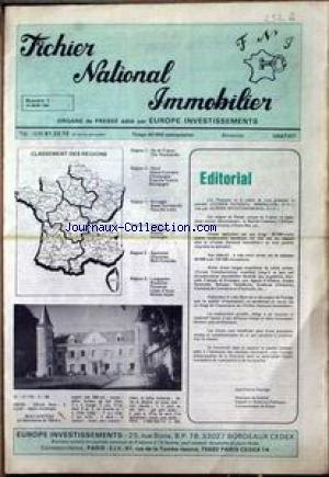 FICHIER NATIONAL IMMOBILIER no:1 15/03/1983