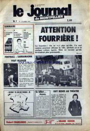 JOURNAL DE MONTPELIER (LE) no:1 25/10/1979