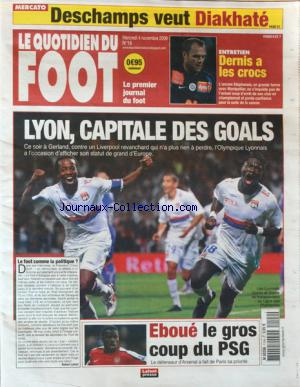 QUOTIDIEN DU FOOT (LE) no:16 04/11/2009