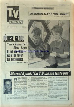TV PARIS no: 10/11/1962