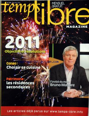TEMPS LIBRE MAGAZINE no:58 01/01/2011