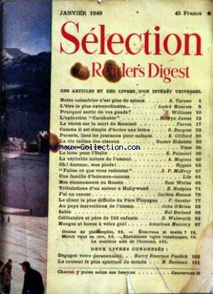 READER'S DIGEST SELECTION no: 01/01/1949