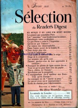READER'S DIGEST SELECTION no: 01/02/1956